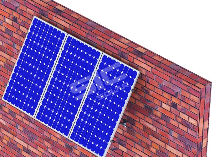 Wall mounted solar panels