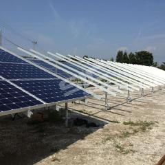 Solar panel ground mounting systems