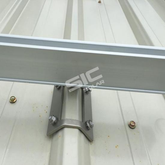 Metal roof solar mounting systems